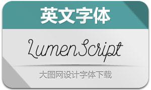 LumenScript(英文字体)