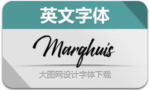 Marqhuis(英文字体)