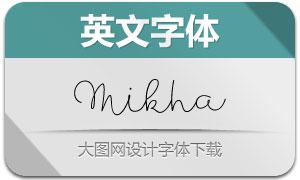 Mikha(英文字体)
