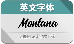Montana系列两款英文字体