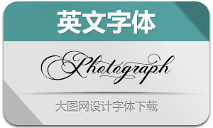 Photograph系列三款英文字体