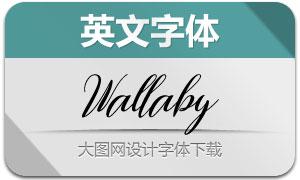 Wallaby(英文字体)