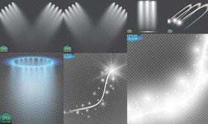 星光线条与聚光灯光线元素矢量素材