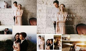 婚礼照片转暗金色艺术效果LR预设