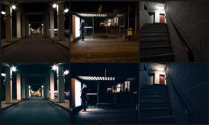 夜景照片转暗蓝色艺术效果LR预设