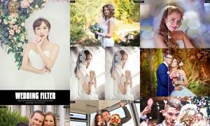 10款婚纱照片复古暖色效果LR预设