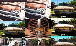 汽车照片后期质感HDR效果PS动作