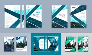 杂志画册出版物封面设计矢量素材V3