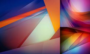 缤纷炫丽多彩抽象背景创意矢量素材