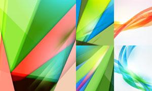 缤纷光效抽象曲线创意背景矢量素材