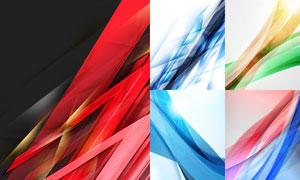 抽象曲线与耀眼光效等背景矢量素材