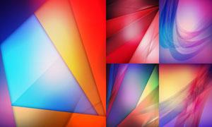五彩斑斓几何光效元素背景矢量素材