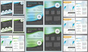 广告彩页与画册封面等设计矢量素材