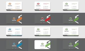 圆角样式企业名片设计矢量素材集V4