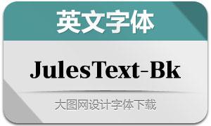 JulesText-Black(英文字体)