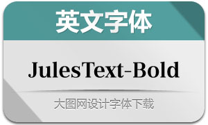 JulesText-Bold(英文字体)
