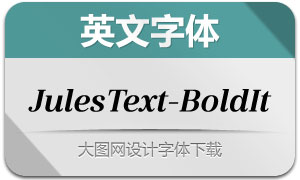 JulesText-BoldItalic(英文字体)
