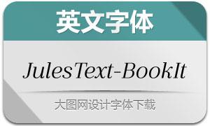 JulesText-BookItalic(英文字体)