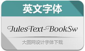 JulesText-BookSwashes(英文字体)