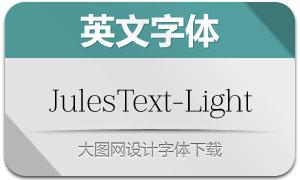 JulesText-Light(英文字体)
