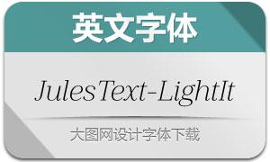 JulesText-LightItalic(英文字体)