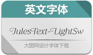 JulesText-LightSwashes(英文字体)