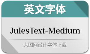 JulesText-Medium(英文字体)