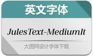 JulesText-MediumItalic(英文字体)