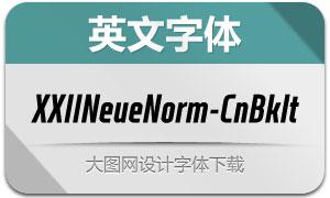XXIINeueNorm-CndBlackIt(字体)