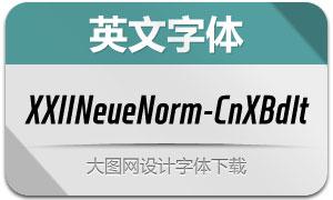 XXIINeueNorm-CndXBdIt(字体)