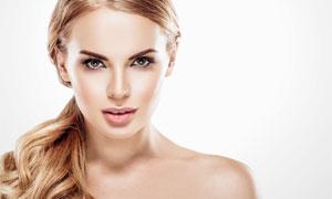 裸露着香肩的美女人物摄影高清图片