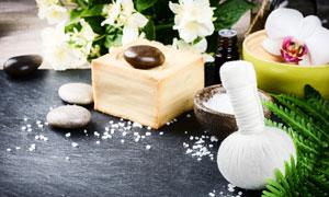 多种美容护肤适用物品摄影高清图片