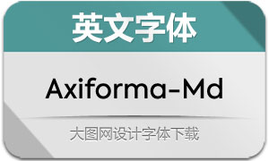 Axiforma-Medium(英文字体)