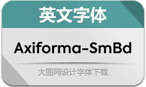 Axiforma-SemiBold(英文字体)