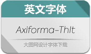 Axiforma-ThinItalic(英文字体)