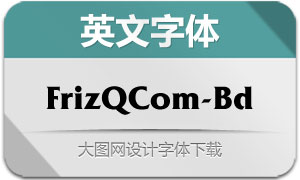 FrizQuadrataCom-Bd(英文字体)
