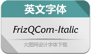 FrizQuadrataCom-Italic(英文字体)