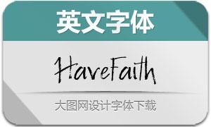 HaveFaith(英文字体)