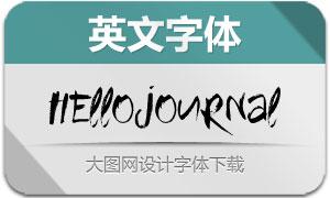HelloJournal(英文字体)
