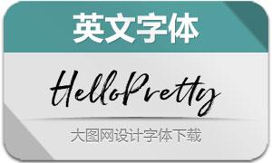 HelloPretty系列五款英文字体