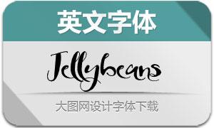 Jellybeans(英文字体)