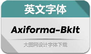 Axiforma-BlackItalic(英文字体)