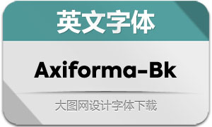 Axiforma-Black(英文字体)