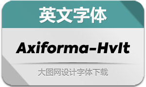 Axiforma-HeavyItalic(英文字体)