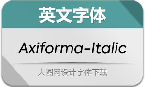 Axiforma-Italic(英文字体)