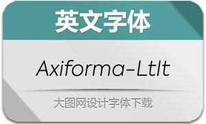 Axiforma-LightItalic(英文字体)