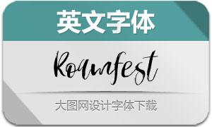 Roamfest(英文字体)