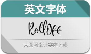 RollOff(英文字体)