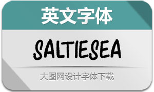 SaltieSea(英文字体)