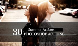 30款夏季人像照片清新效果PS动作